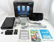 Nintendo Wii U 32gb Deluxe Set With Yoshi Wiimotes, 16gb Sd Card No Game Used