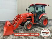 2017 Kubota L3560 Tractor W/ Loader Cab 4x4 540 Pto 174 Hours 6 Speed Hydro