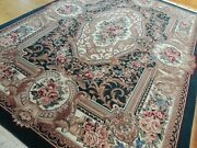 5x7 5x8 Pakistani Pile French Aubusson Rug Wool Green Red Pink Blue Teal Wow