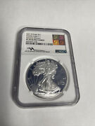2021 Silver Eagles Pf70 Ultra Cameo John Mercante Authentic Hand Signed