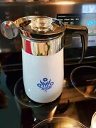Collector Piece Only Complete 9cup Percolator Coffee Pot Cornflower Blue Vtg