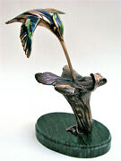 Hummingbirds Bronze Sculpture Limited Quantity 3/10 Size In Inches 8.6in 5.5in