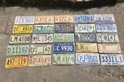 Vintage United States License Plate Collection Lot Of 25 Metal Car Auto Tags