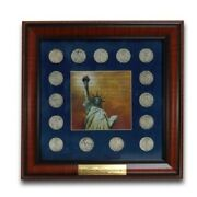 1933-1947 Half Dollar Walking Liberty Collection In Frame