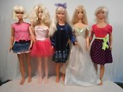 Lot Of 5 Vintage My Size Barbie - 36 Dolls W/outfits - Mattel Free Shipping