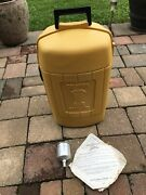 Coleman Lantern Clam Shell Model 275 Yellow Carry Case Vintage W Extras