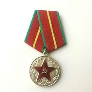 Ussr Soviet Russian Medal Impeccable Service In The Kgb 1st. Class 2nd. Variant