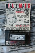 Vintage Nos Auto Headlight Part Service Gm Hot Rod Ford Accessory Store Display