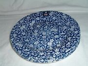 Royal Wessex Navy And White Floral Calico China Salad Plates 8 Set Of 4 New