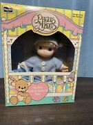 My First Precious Moments Baby Doll Rose Art 1992 Boy In Blue Pjs W/ Blonde Hair
