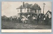 Bowie Tx Fire Company Antique Postcard Firefighting
