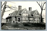 Whitinsville Ma High School Vintage Real Photo Postcard Rppc
