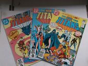 Dc The New Teen Titans 2signed 9 And 10 1st And 2nd Deathstroke Key 1980 Vf+