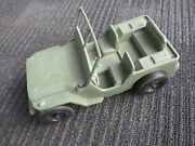 Vintage 1960's Unknown Maker 118 Scale Plastic Toy Willys Jeep