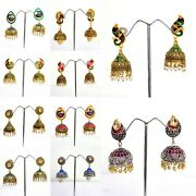 Wholesale Lot30 -50 -100 Pairs Silver Plated-peacock Style Jhumka Earrings