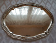 Large Sterling Silver Salver Tray.