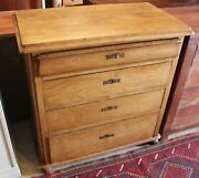 19th Century Continental Elm Four Drawer Chest