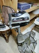 Martin 75 Outboard Motor 1950s Has Compression As Is Rebuild Or Decoration