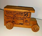 Toystalgia Land Oand039 Lakes Butter Wooden Truck Bank Advertising Usa 1979 Rare