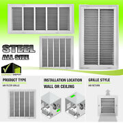 Steel Return Vent Cover Duct All Sizes Filtered Air Grille Wall Ceiling White