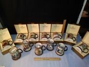Royal Doulton Dickens Yule Tankards Mugs Collection 12 Minty