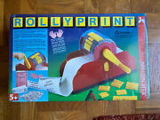 Vintage 80's Childs Toy Rollyprint Rotary Printing Press Machine By Nathan Jeux