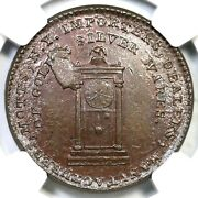 1789 Ngc Ms 65 Bn Thick Pl Edge Mott Company Token Colonial Coin