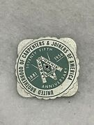 Vtg Brotherhood Of Carpenters And Joiners Of America Union 1956 Perpetual Calendar