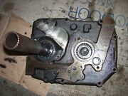 Vintage John Deere 2010 Ru Gas Tractor -trans Front Cover And Gears -1965
