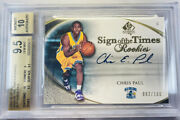 2005-06 Sp Authentic Sign Of The Time Rookie Chris Paul Bgs 9.5 W/10 Auto /100