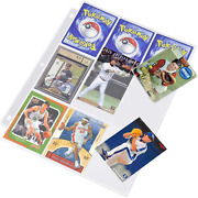 Homgaty 450 Pockets Trading Card Storage Album Pages Card Collector Coin Holders