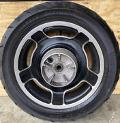 Harley Davidson Cast Alloy Wheels Front And Back With Dunlop Tires