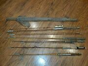 Lot Of Vintage Bamboo Fly Rods For Restoration, Parts Or Display South Bend Etc