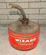 Wizard Gas Can Vintage Utility Container 2 1/2 Gallon Western Auto Outboard Farm