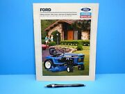 Vintage Ford New Holland Riding Mowers Lawn And Garden Tractors Brochure 19 Pages