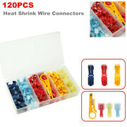 120pcs Heat Shrink Wire Connectors Nylon Marine Rv Electrical Terminals Ring Set