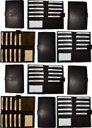 Lot Of 12 Leather Checkbook Cover Black Credit Card Id Wallet 19 Cards Brand New