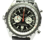 Breitling Chronomatic A41360 Date Black Dial Automatic Menand039s Watch_610950