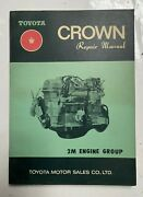 Used Toyota 97001 Engine Repair Manual For Crown 2m Engines Free Shipping