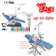 Dental Chair Hard Leather Computer Controlled Unit Blue Portable Folding Chair