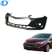 Primered Front Bumper Cover For 2016 2017 2018 Chevy Cruze W/o Park Assist