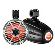 Ds18 X Series Hydro 8 2-way Wakeboard Pod Tower Speakers 550w Carbon Rgb Led