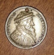 1696 Silver Reformation Medal Of John Calvin By Christian Wermuth