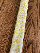 Vintage 70and039s Orange Yellow Floral Contact Paper 2.5 Yards