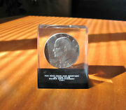 1974 Liberty One Dollar Coin Denver Mint The East Ohio Gas Co 25 Year Club Case
