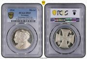 Germany Empire Silver Medal 1914 Iron Cross / Imperial Couple Pcgs Sp65 Z-5002