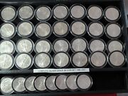 Complete 36 Coin American Silver Eagle Bu Set 1986-2021 In Capsules