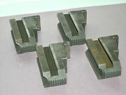 Set Of 4 Old Cc Co. Lathe Chuck Jaw 14 J14 6120 Vintage Clausing Colchester