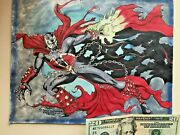 Need Info Please About This Please Amazing Original Spawn David...comic Art --