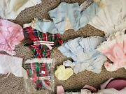 Lot Of 10 Pieces Of Antique Doll Clothes